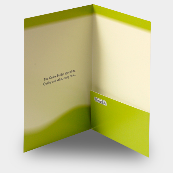 A4 folder with glued pocket, code FA4_1