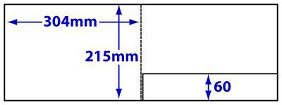 A4 Landscape folder with glue-fixed pocket, product code FA4LS_265