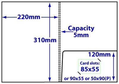 FA4_c5_94 A4 5mm capacity folder with glue-fixed pocket