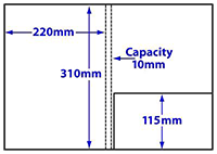 Diagram of Product FA4_c10_462, A4 10mm capacity folder